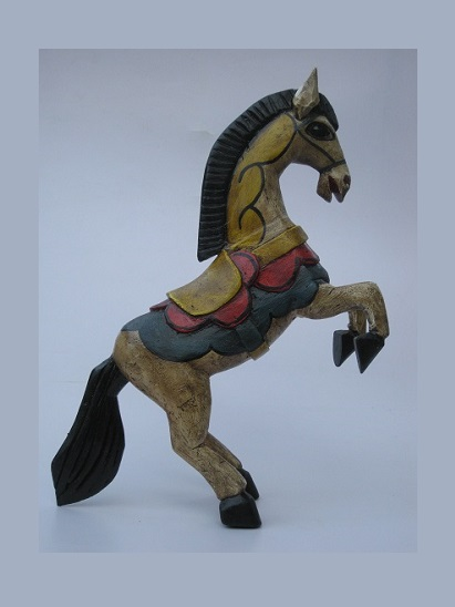 CARVED HORSES / Carved horse 19 inch tall handpainted